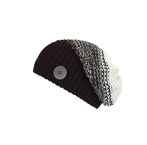 Eisbär Damen Fabienne OS Mütze, schwarz/Weiß, One Size