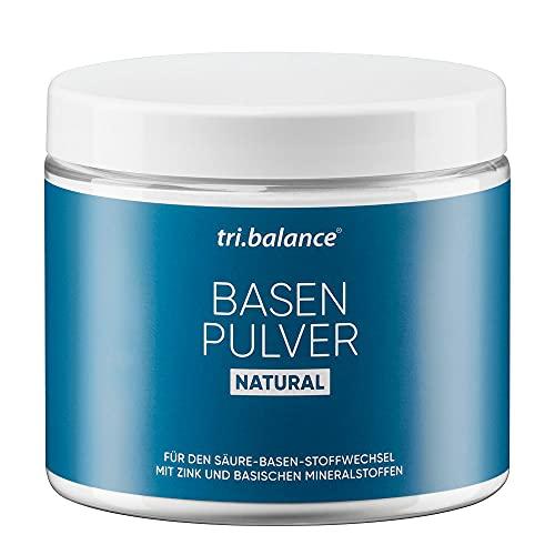 tri.balance Basenpulver Natural 300 g - 1er Pack I Classic I Mit Zink zur Entsäuerung I Für den Säure-Basen-Haushalt – zuckerfrei - vegan