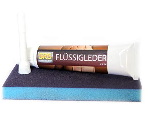 SRS TECHNOLOGY Flüssigleder repariert kleinere Beschädigungen. Farbtöne:neutral. 25 ml. (neutral+Schleifpad)