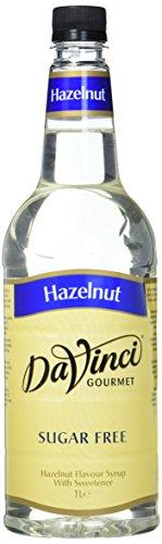 DaVinci Gourmet Sugar Free Hazelnut Syrup Pet, 1er Pack (1 x 1 l)