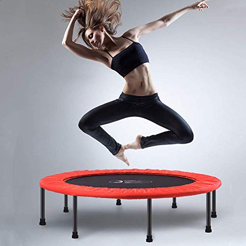 XDKQ Folding Indoor Fitness Trampoline for Kids and Adults,Trampolines Jumper Sports for Fat Burning and Shape Good Body,Best Gift for Boys Girls