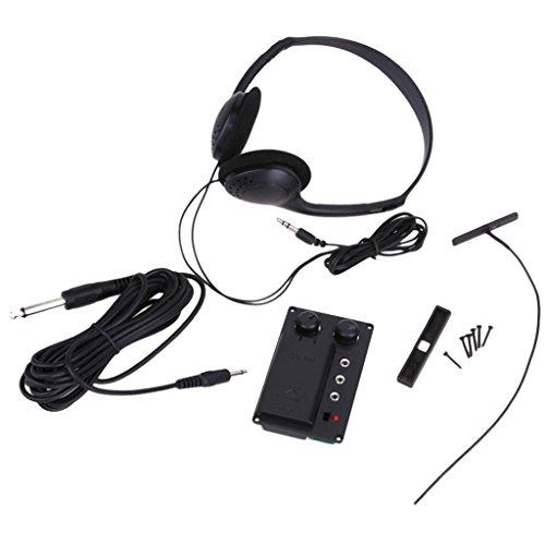 Silencioso EQ Piezo de Eléctrico Violín con Auriculares Plug Agujero Conjunto de...