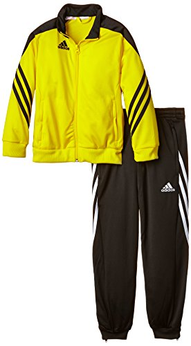 adidas Unisex - Kinder Trainingsanzug Sereno14, gelb/schwarz/weiß, 164, F49710