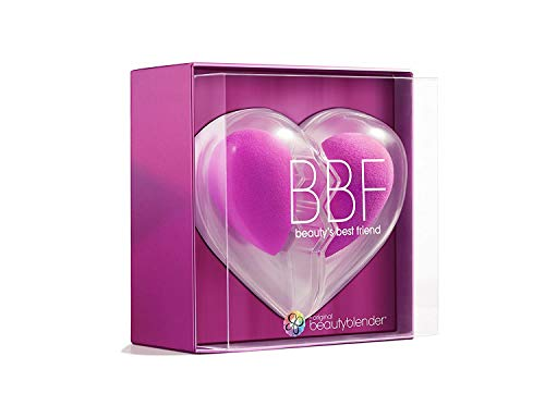 beautyblender Limited Edition BBF Heart Set, Two Original Makeup Sponges for Foundations, Powders & Creams