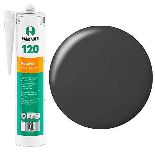 Ramsauer 120 - Sellador de silicona neutra, color gris hormigón