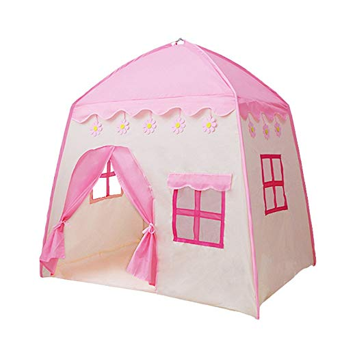 EVFIT Kids Play Tent Dreamy Kids Portable Play Tent Playhouse For Boy And Girl Imaginative Camping Playground Games & Gift (Color : Pink, Size : 130x95x130cm)