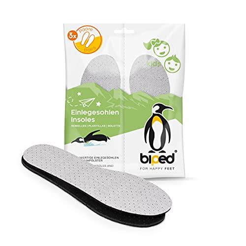biped 3 paires de semelles au charbon actif avec couche de latex pour enfants - pour la régulation du climat, pour une fraîcheur hygiénique des chaussures z2768 (30-31)