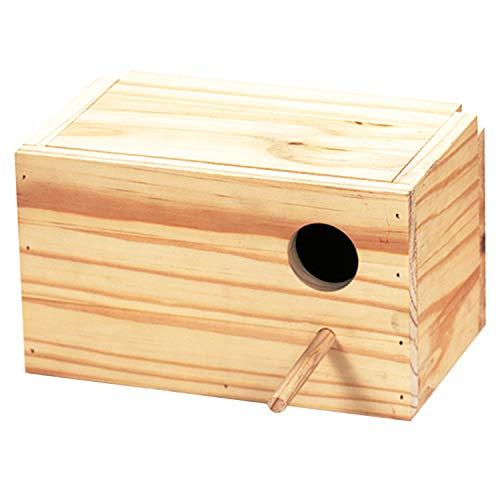 Arquivet Nido de Madera para pájaros - Casa para agapornis - Caja para pájaros - Nido para pájaros de jardín - Nido cría para Aves Natural - 23 x 14 x 14 cm