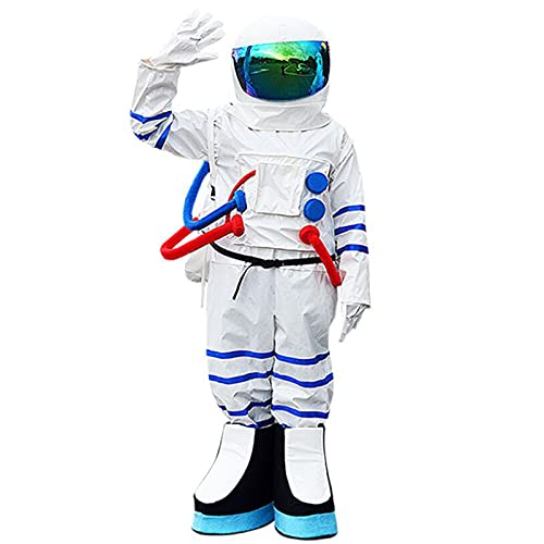 GNZY Disfraz de Astronauta para Hombre Traje de Astronauta Piloto Cosplay - Fiesta de Halloween Traje Divertido para Hombres Adultos Incluye Sombreros + Pantalones + Guantes + Zapatos
