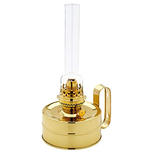 Petroleumlampe Galley Messing poliert, 48 Std. Leuchtdauer, als Tischlampe und Wandlampe