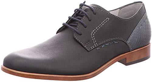 FRETZ men Oskar, Zapatos de Cordones Derby Hombre, Color Negro, 47 1/3 EU