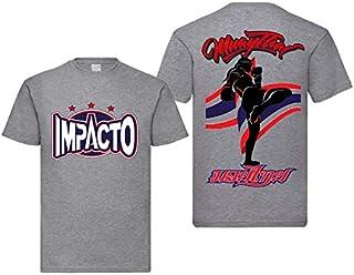 IMPACTO-Camiseta Muay Thai Gris (M)