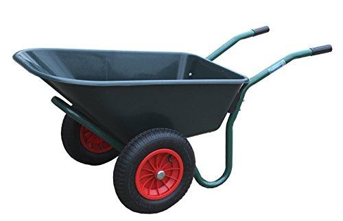 TrutzHolm® 2-Rad Schubkarre PP Gartenschubkarre Schiebkarre Gartenkarre 100l 160kg Zweiradkarre