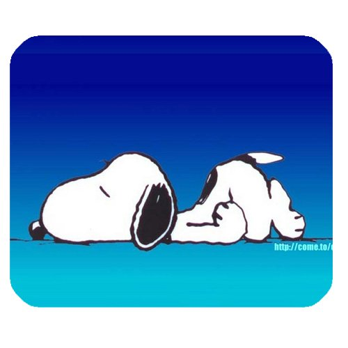 """Sleeping Snoopy Mousepad Personalized Custom Mouse Pad Oblong Shaped In 9.84""""X7.87"""" Gaming Mouse Pad/Mat"""