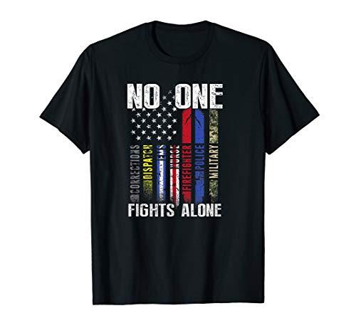 Us Flag First Responder T-Shirt
