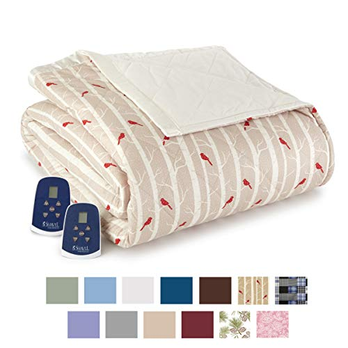 Thermee Micro Flannel Electric Blanket Twin Birches