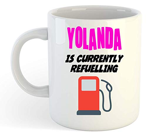 Yolanda is Currently Refuelling - Taza, color rosa
