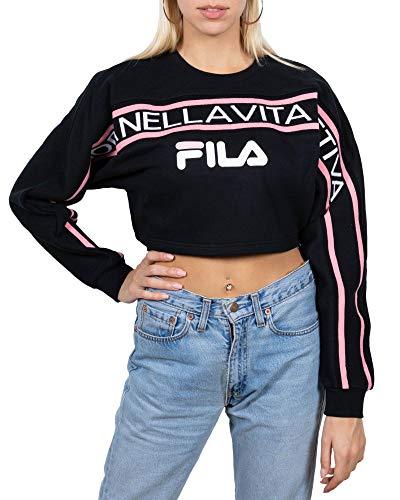 FILA. Lucie Crop Raw Hem Sweatshirt 684602 002 XS