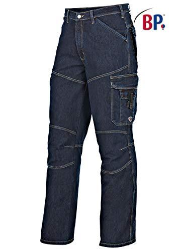BP 1466-038-04-64 Arbeitshosen, mit Taschen, 350,00 g/m² Baumwolle mit Stretch, tiefblau, Stein ,64