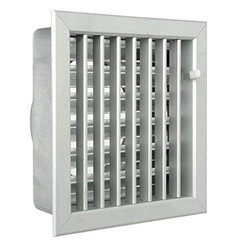 La Ventilazione GCSIAL2020140 Griglia Incasso per Camini, Alluminio, 200X200 mm