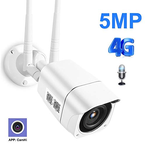 Cámaras de Vigilancia 3G 4G SIM Card WiFi Exterior, HD 1080P Cámara Seguridad, Impermeable IP66, WiFi Nocturna Audio Bidireccional Detección de Humano Movimiento 1080PWIFIVersion