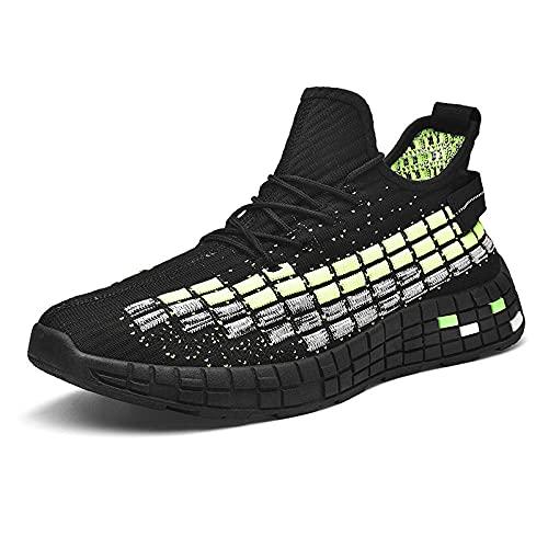Aerlan Treaded Sole Trainers,Los Zapatos de los Hombres se divierten los Calzados Informales, Que Van de excursión los Zapatos para Correr al Aire Libre-Green_42,Calzado de Fitness para Trail Running