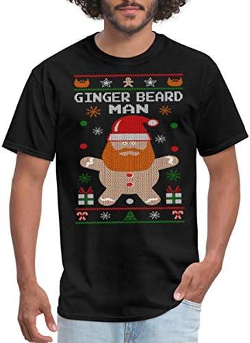 Spreadshirt Ginger Beard Man Ugly Christmas Sweater Men s T Shirt 4XL Black product image