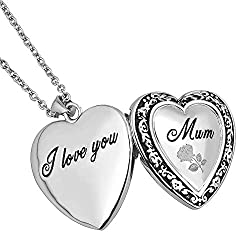 Mum Locket Necklace Chain Length: 19 Inch Metal: Copper, White Gold Plated This birthstone necklace is an easy-match jewellery piece, you can wear it in any occasions with any outfit. A thoughtful present on Mother's day, Birthday, Christmas, Anniver...