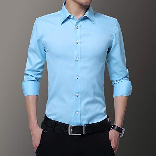 Hemd Plus Size 8XL 7XL 6XL Herrenhemd Langarmhemden Herren Causal Non-Iron Shirt Slim Fit Herbst Weiß Hemden Ds-263 L Hellblau