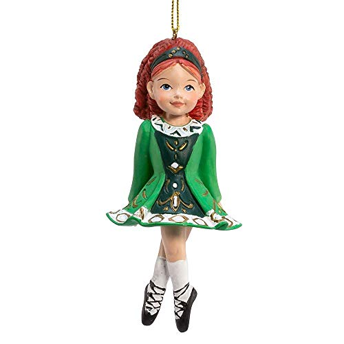Kurt Adler Irish Girl Dancer in Green Dress Christmas Ornament