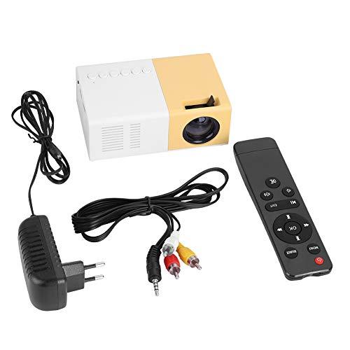 FAMKIT Proiettore Led Portátil Mini Proyectores de Películas de Cine en Casa con Estilo Hd Compatibile con Riproduttore Multimediale 1080P Hdmi Vga (Tamaño: E110v-240V)