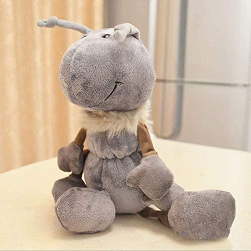 DEMIN Happy Ameise Teddy Spielzeug Grau mit Muschel Umarmung Weiche Insekten Tiere Spielzeug Nette Ameise Ameise Ameisen Schöne Ameise Plüsch Spielzeug Parodie Geb 25cm