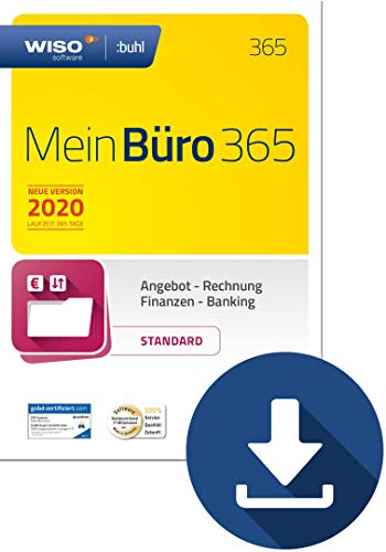 WISO MeinBüro 365 (2020) Standard | PC Download | Bürosoftware, Rechnung schreiben, Buchhaltung u.v.m.