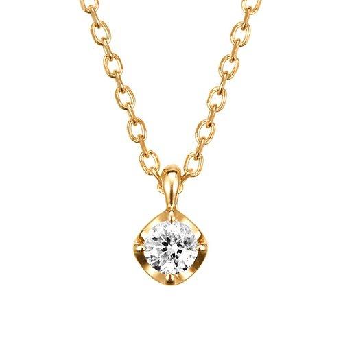 4℃(ヨンドシー) 0.066ct ダイヤモンド K10 イエローゴールド(YG)ネックレス 111146123023