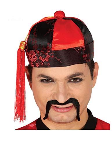 Guirca chinesischer Hut Mandarinhut für Erwachsene Karneval Fasching Party Mandarin Mütze