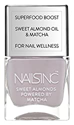 A picture of a purple nail varnish colour by Nails Inc.