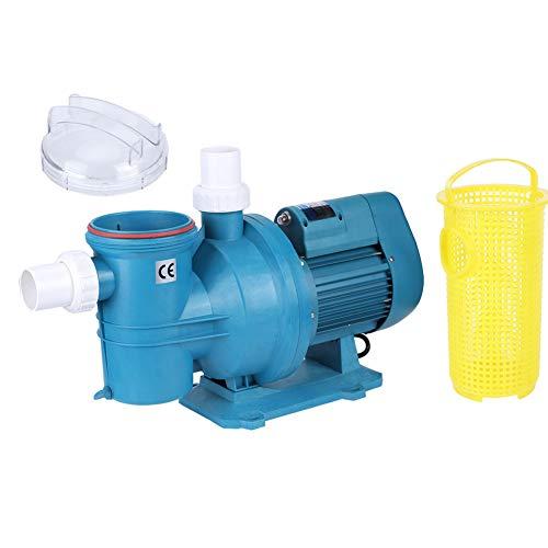 Wakects Wasserpumpe für Pool-Filter, Ausrüstung zur Wasserbehandlung mit Saugung, Poolpumpe, selbstansaugende Filterpumpe (220 V)