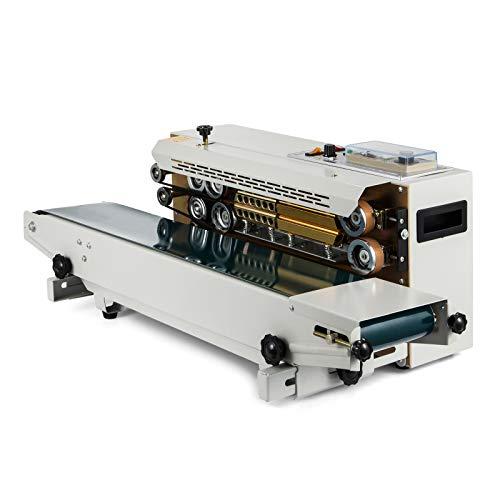 VEVOR FR-900 Máquina de Sellado 500 W, Sellador de Banda 0-12 m/min Sellador Automático de Impulsos para Sellar Bolsas de Plástico o de Papel, etc.