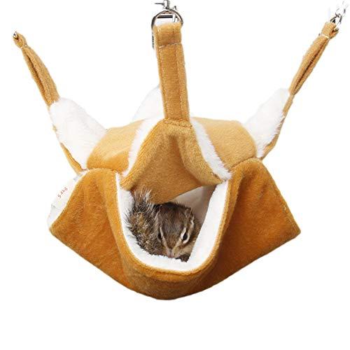 Retinue Hamaca Pequeña para Mascotas, Hamaca para Roedores Cama Colgante Hámster Dormir Cómodo Nido con 2 Capas Suave Y Cálida para Jaula Chinchilla Loro O Azúcar, Deslizador, Hurones, Rata, Hámster