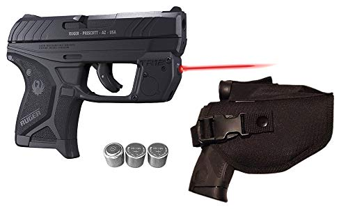 Laser Kit for Ruger LCP II (LCP2 - Fits Both .22LR & 380 LCP 2 Models) w/ Tactical Holster, Touch-Activated ArmaLaser TR12 Red Laser Sight & 2 Extra Batteries