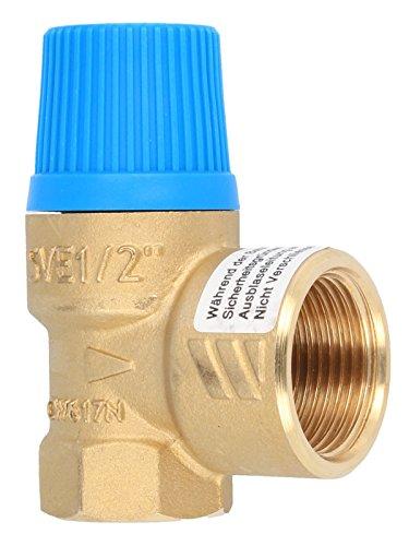 Membran Sicherheitsventil für geschlossene Wasserwärmer nach DIN 4753, 8 bar, bis 75 kW, E 1/2