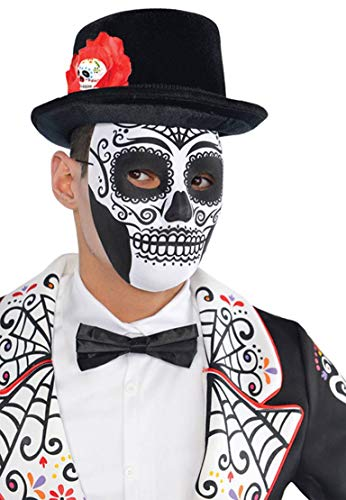amscan 999797 Party Maske, Tag der Toten, 1 Stück, schwarz, weiß