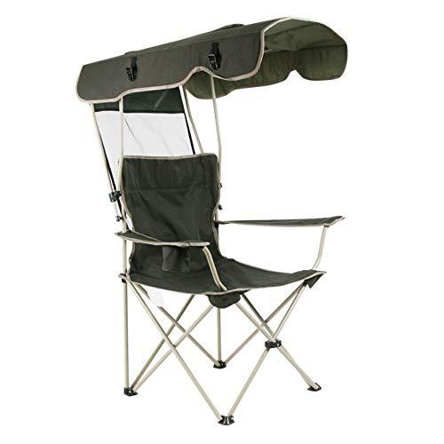 ZGYZ Silla de Campamento al Aire Libre con dosel-300lb.Capacidad Sombrilla Asiento cuádruple con portavasos, Nevera portátil, Bolsa de Transporte, Camping, Pesca, Silla Plegable, Ocio al Aire Libre