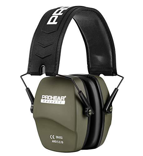 PROHEAR 016 Schiessen Gehörschutz Lärmschutz Kopfhörer für Schießsport,Ohrenshcutz für Kinder Erwachsene SNR31dB (Grün, Pure Farbe)