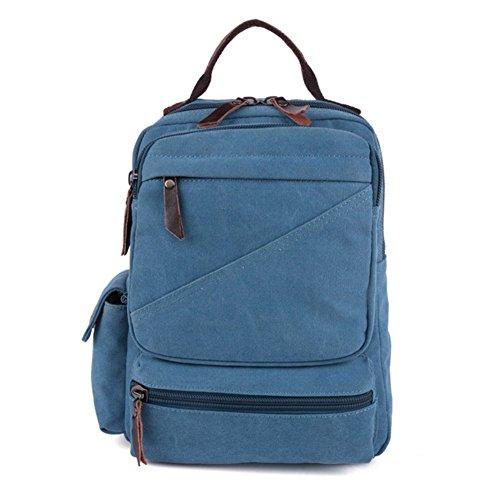 Sincere® la mode Fashion Backpack / Zipper Sacs à dos / Rue / Multifonction / Sac à dos / École de sac de toile / sac d'ordinateur casual / extérieur sac à dos bleu Voyage