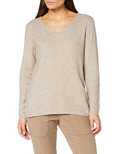 Cecil Damen 301367 Pullover, Mocca Brown Melange, X-Large