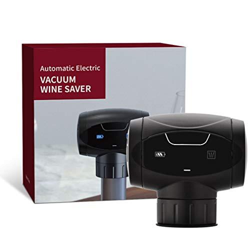 WXZQ Tapón de Vino eléctrico Tapón de Vino eléctrico electrónico automático Vino de preservación al vacío Inteligente Negro