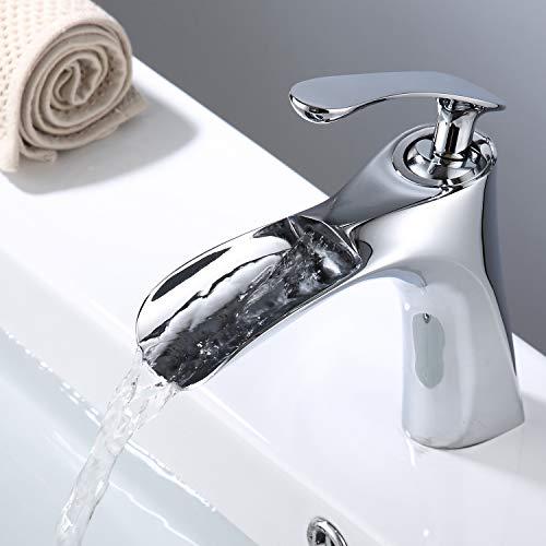 Grifos de Lavabo, Grifo Monomando Lavabo Cascada G1/2, VENTCY Grifo lavabo Cromo, Griferia lavabo para baño