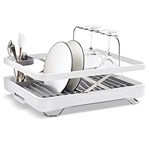 Storable dish drainer