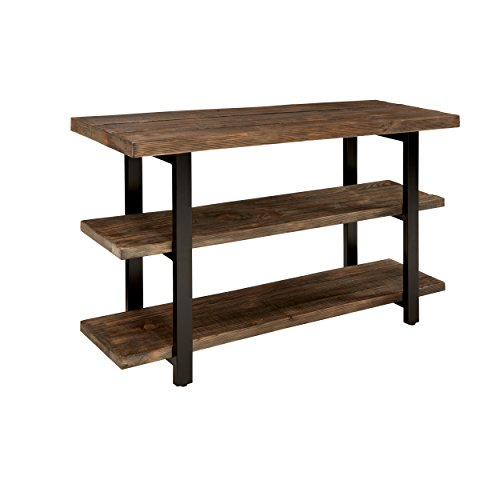 "Sonoma 48"" L Reclaimed Wood Media/Console Table with 2 Shelves, Natural"
